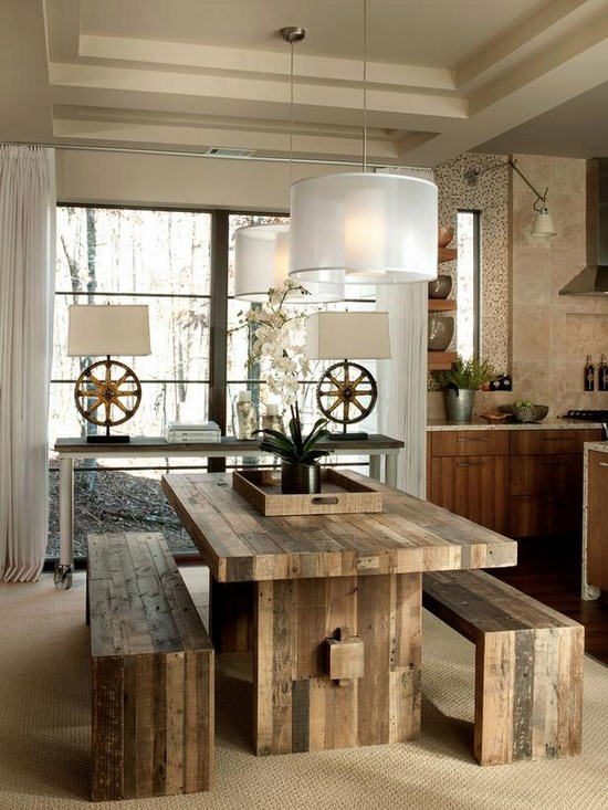 Arredamento nordico e idee per la sala da pranzo for Dining room ideas rustic