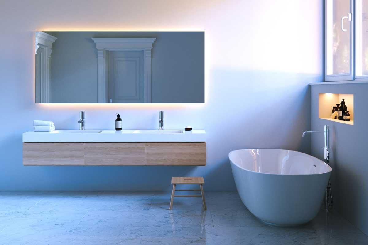 Design bagno una perfetta l illuminazione importante for Illuminazione bagno design